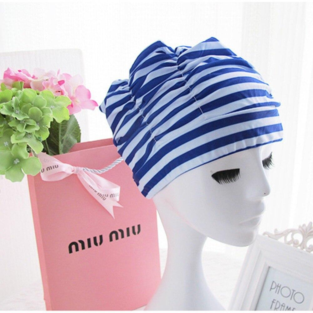 Nowe panie czepek kąpielowy dziewczyna długie włosy czepek kąpielowy elastyczna drapowania czepek kąpielowy