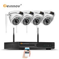 Einnov 4CH HD 1080P 2MP Wireless Outdoor Home Security Camera System With NVR Wifi CCTV Set Dome Video Surveillance kits IP Cam