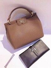 New Women Leather Handbags female handle Litchi ladies messenger bag cat crossbody bag Brand designer handle tote bag for women