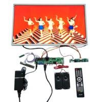 Hdmi + vga + av placa de tv lcd + painel lcd de 21.5 polegadas com 1920*1080 LM215WF3-SLK1 cabo lvds teclado osd + controle remoto