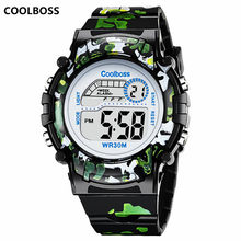 Camouflage Watches Children Watch Led Digital Wristwatch Kids Boys Girs Students Clock Waterproof Sport Gift Relojes Army Green(China)