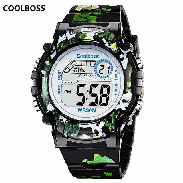 8a024a1f5763 Camuflaje Relojes reloj Digital Led reloj de pulsera niños niñas  estudiantes reloj impermeable deporte regalo Relojes
