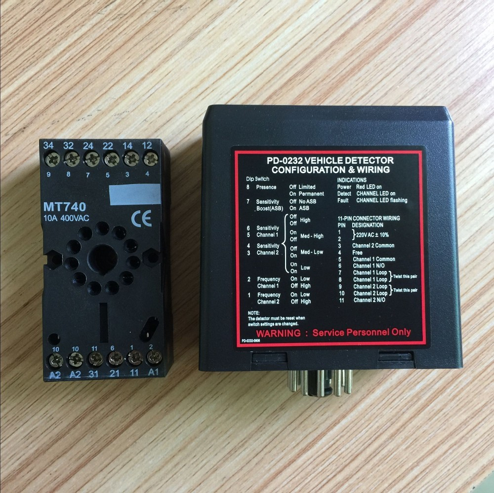 PD232 два канала Индуктивный Автомобиля детектор для mightymule faac bft пришел приятно Ворота Барьер операторов