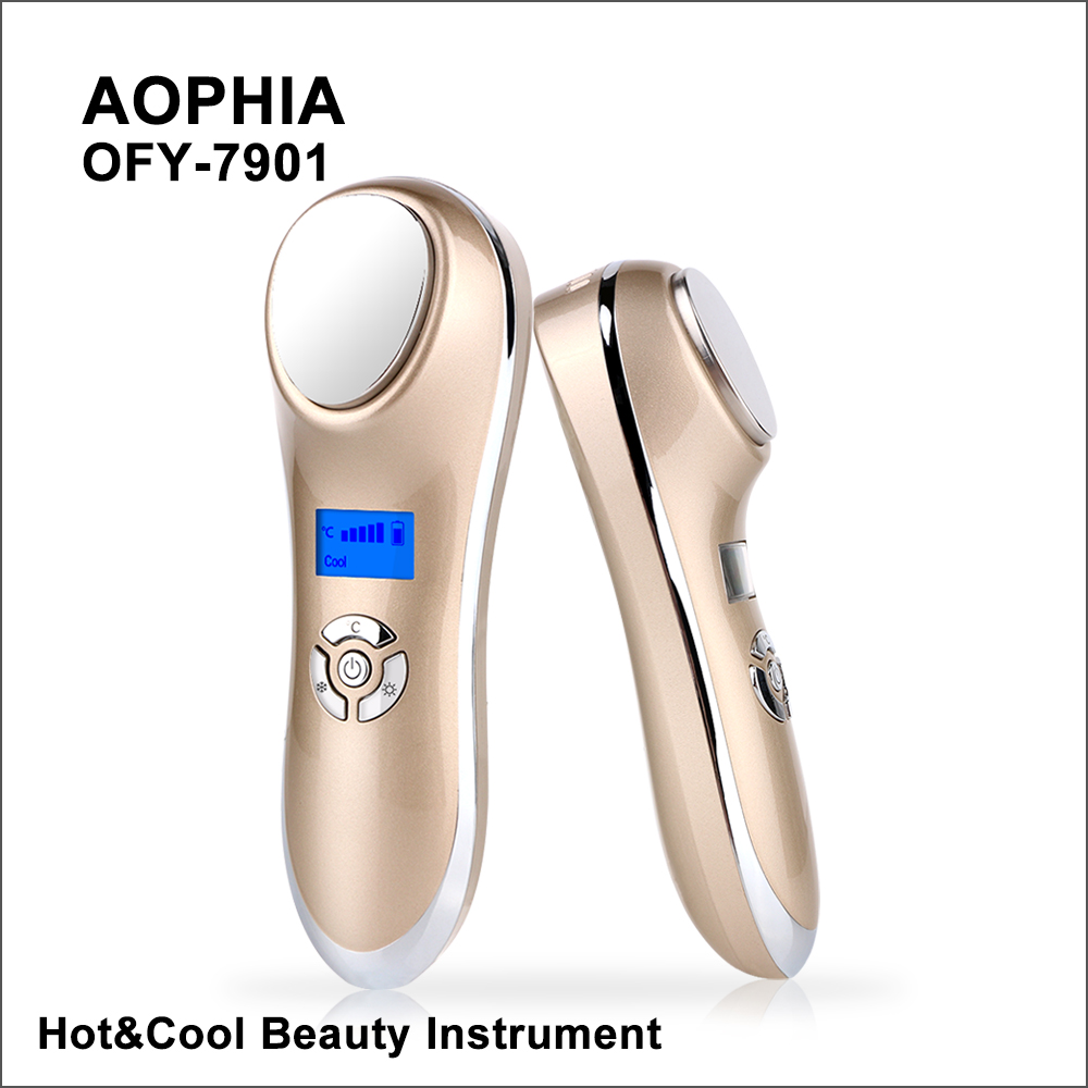 AOPHIA Ultrasonic Cryotherapy Hot Cold Hammer Facial Lifting Vibration Massager Face Body Import Export Face Care Beauty MachineSonic Vibrating Device   -