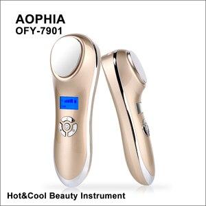 Image 1 - AOPHIA ultrasons cryothérapie chaud froid marteau Facial levage Vibration masseur visage corps importation exportation soins du visage beauté Machine