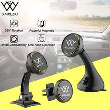 XMXCZKJ Magnetic Car Holder For Samsung S8 360 Degree GPS Air Vent Mount Phone Holder For iPhone Dashboard Windshield Car Holder 360 degree rotational bicycle mount holder for iphone 4 4s 5 samsung i9300 gps black