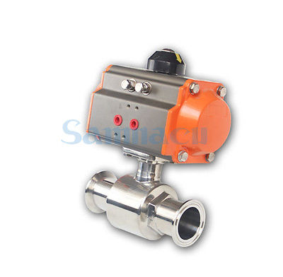 3/4-2 SUS304 Stainless Steel Sanitary Pneumatic 1.5 2 Tri Clamp Ball Valve For Homebrew 3 4 2 sus304 stainless steel sanitary tri clamp electric butterfly valve for homebrew