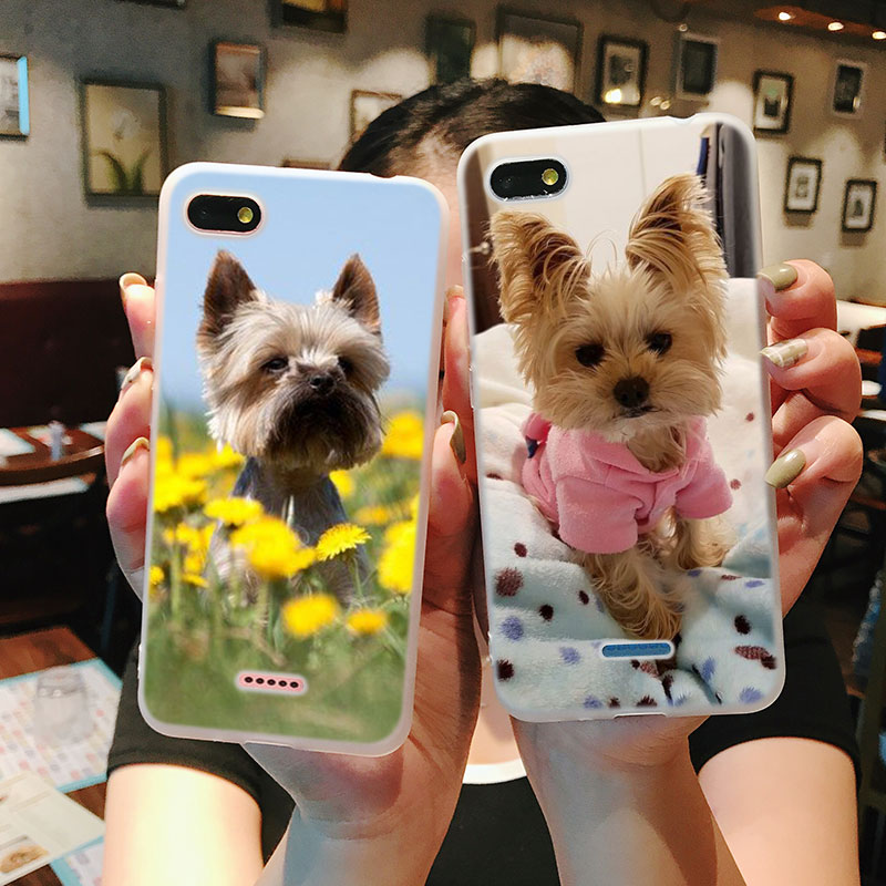 Silicone Phone Case Yorkshire terrier dog puppy for Xiaomi Redmi S2 Note 4 4X 5 5Pro 5A Plus 6 6A 7 Pro Cover in Fitted Cases from Cellphones Telecommunications