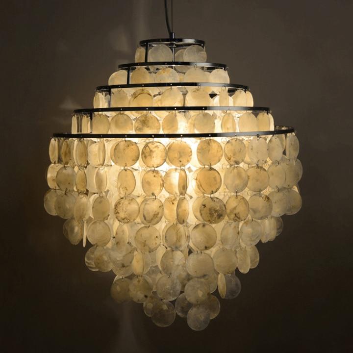 Modern Nordic Seashell Chandeliers Lights Fixture 5