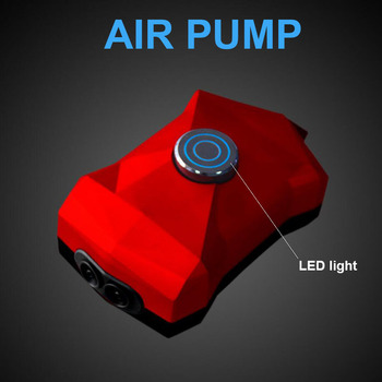 1pcs Cool Adjustable Mini Fish Tank Air Pump with LED Light Compressor 220v Aquarium Fish Tank Oxygen Pump Aquarium Accessories