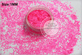 TCF502 Neon  Shocking Pink   Colors 1.0mm size solvent resistant glitter for nail Art nail Polish or other DIY decoration