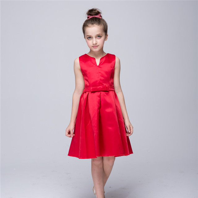 comprar popular f0573 bb13b € 17.67 |Ywhuansen Verano de la muchacha de la alta calidad vestido rojo  princesa vestido de vestido elegante para Niñas niño niños vestido de boda  en ...