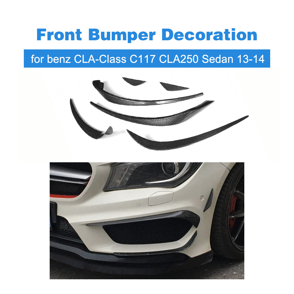Carbon Fiber Front Bumper Air Vent Decoration Trim for Mercedes Benz CLA-Class C117 CLA250 CLA260 CLA45 Sedan 2013-2014