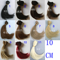 1 piece 10cm*100CM brown flaxen coffe black color Hair welf fringe wig hair for 1/3 1/4 BJD diy