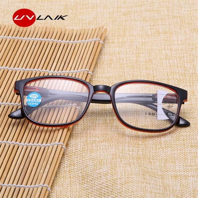UVLAIK Anti blue light Reading Glasses Men Progressive Multifocal Glasses Women Near Far Sight Diopter Eyeglasses for Reader