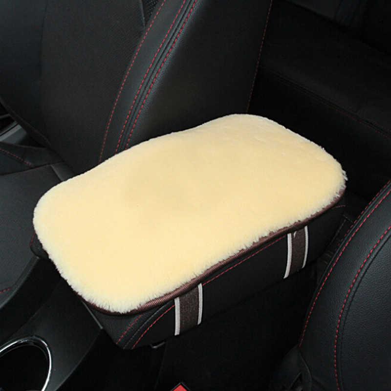 1 adet 35x17cm araba kol dayama kutusu Pad deri kol dayanağı merkezi konsol kapak kol dayama pedleri