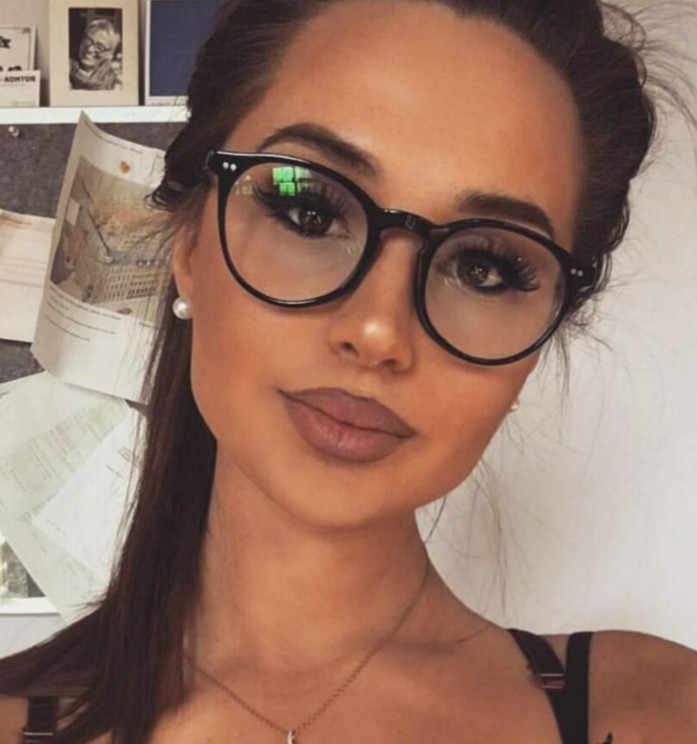 tienda oficial despeje venta directa de fábrica Nueva moda mujer gafas de marco negro de los hombres gafas marco Vintage  redondo gafas ópticos marco