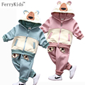 Warn Kids Clothes Boys Clothing Set Winter Children Clothing set Toddler Boys Clothing Hooded Baby Boy Clothes Set 2016 New