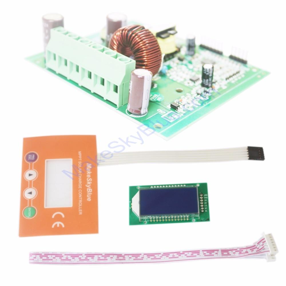 MakeSkyBlue 20A DIY MPPT Controlador de Carga Solar Com LCD para 12V 24V Regulador de Chumbo Ácido Bateria De Cálcio Aberto