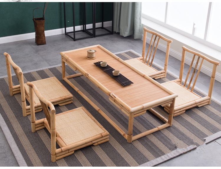 Hand Crafted Modern Rattan Bamboo Furniture Floor Table Japanese Style  Tatami Coffee/Tea Living Room Furniture Bamboo Tea Table-in Coffee Tables  from ...
