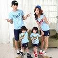 2017 дети Корейский хлопок с коротким рукавом футболки лето мать отец ребенка футболка ти топы мать сын наряды