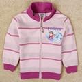Девушки анна эльза зимнее пальто куртку Детей одежда из хлопка мультфильм пиджаки девушки толстовки девушки анна эльза пальто F5251