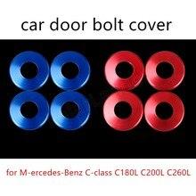 Лучшие продажи для M-ercedes-Benz C-class C180L C200L C260L автомобильный Болт Дверные замки крышка наклейки 2 цвета доступны 4 шт
