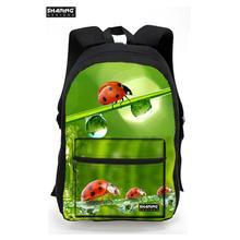 Горячие 3D Красочные животные Жук Тигр Божья коровка печати школьные сумки для мальчиков-подростков, детские школьные сумки мужские книга сумки студент