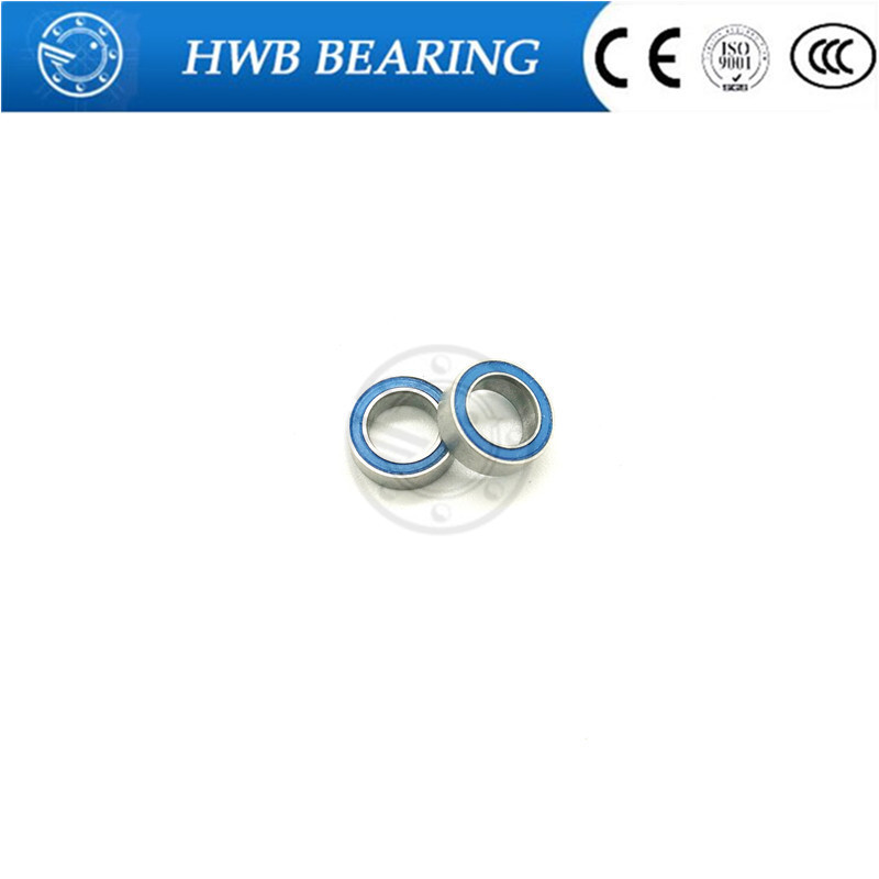 все цены на  10PCS High quality Free Shipping   MR105 2RS Blue rubber 5x10x4 mm Miniature Ball Bearings MR105RS  онлайн