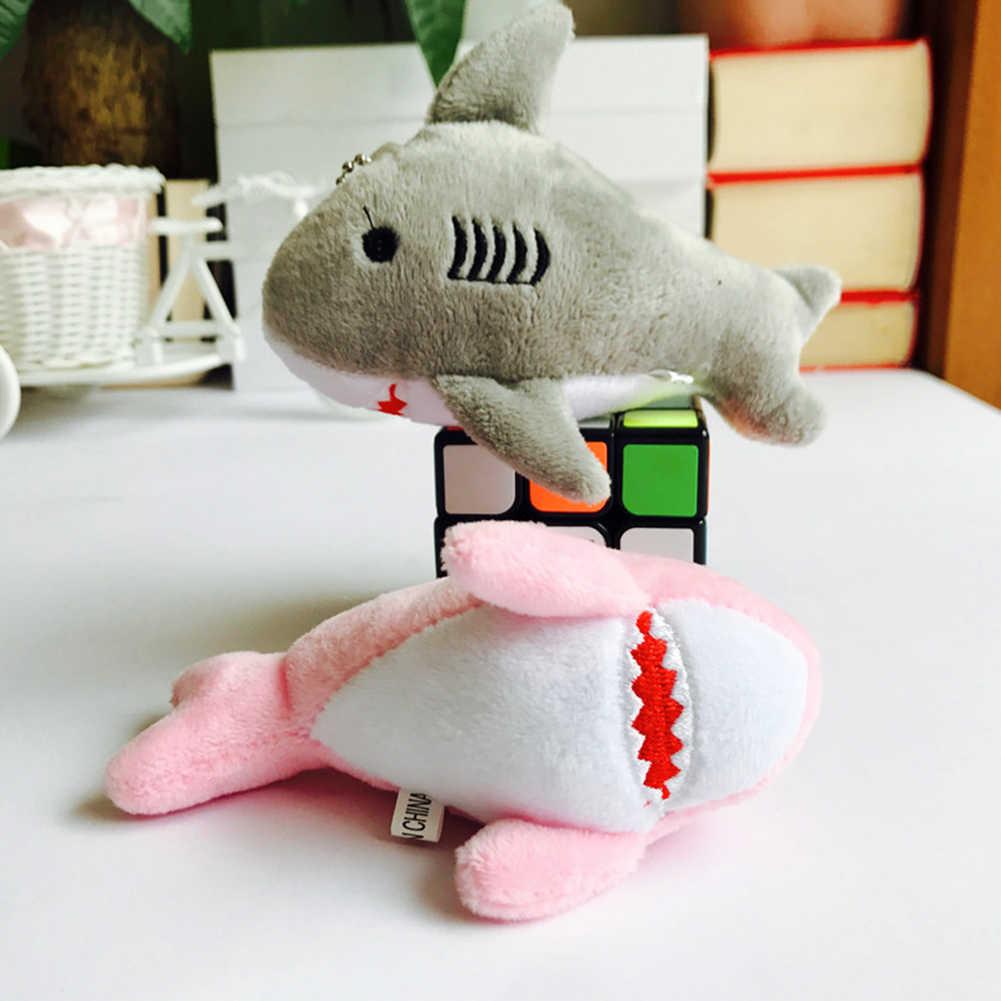 12 centímetros Bonito Tubarão De Pelúcia Recheado Pendurado Boneca Bolsa Pingente Chaveiro Presente Decor