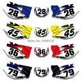 Custom Number Plate Backgrounds Graphics Sticker & Decals Kit For YAMAHA WR250F WR450F 2007 2008 2009 2010 2011
