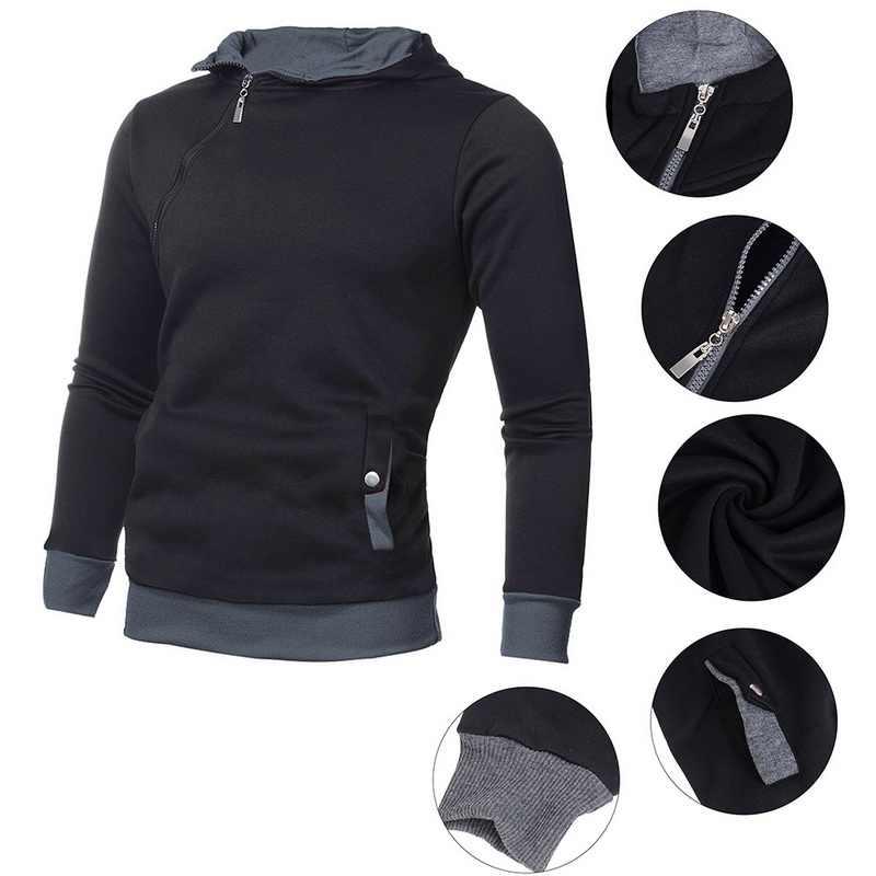 SHUJIN брендовые капюшоны свитшоты мужские осенние на молнии в стиле пэчворк тонкая мужская одежда модная уличная одежда с длинным рукавом Толстовка