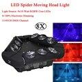 8 stks/partij NIEUWE Stage Effect Verlichting Beam Laser Strobe 3in1 LED Spider Licht 140W Moving Head Licht DMX512 DJ disco Music Party