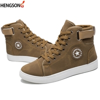 Men Outdoor Boots Plus Size 39 46 PU Leather Ankle Skateboarding Shoes Lace Up Top Quality