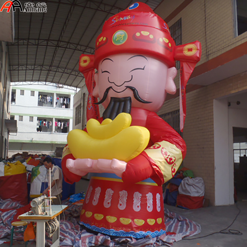 Free Shipping Inflatable God Of Fortune For New Year Decoration