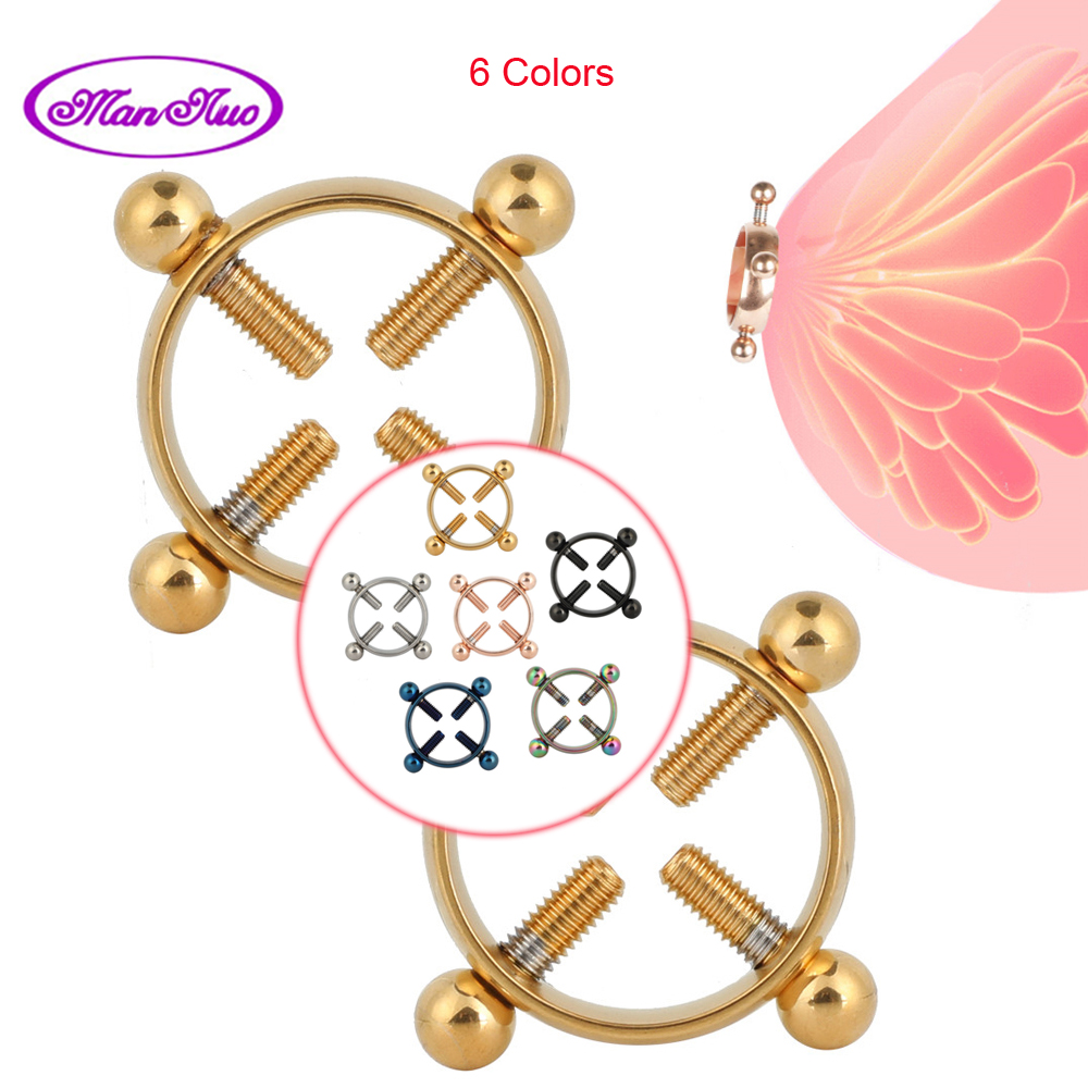 1 Pair Breast Clips Nipple Stimulator Flirting Teasing SexToys For Women Couple Nipple Clamps Adult Games Erotic SM Roleplay Toy