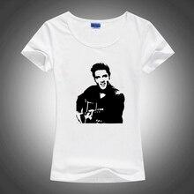 Elvis Presley Slim Style lSublimation Print White Tshirt Women T shirt Harajuku T-shirt Tee Shirts Gothic Anime Rock Punk