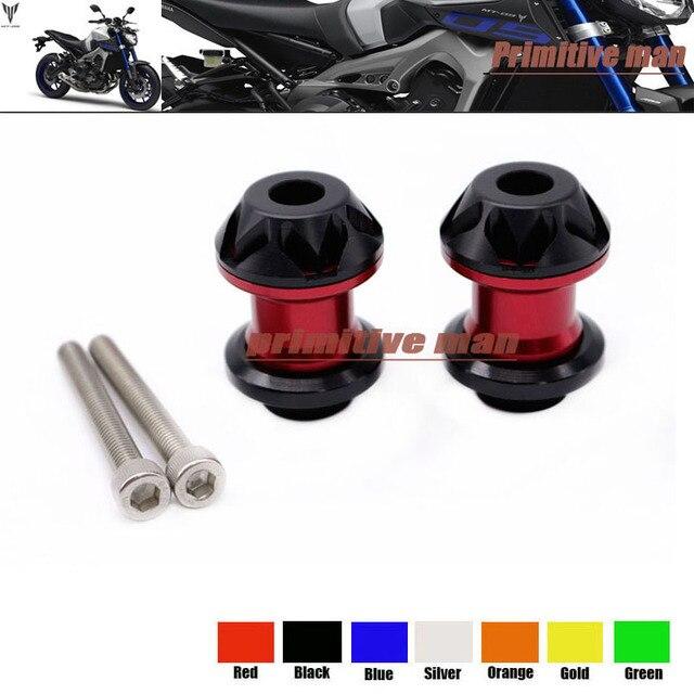 For YAMAHA FZ-10 MT-10 MT-09 Tracer 900 R3 R25 R1 R6 FZ1 FZ6 Motorcycle  Swingarm Spools slider 6mm stand screws Red