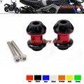 Para yamaha mt-09 fz-10 mt-10 trazador 900 r3 r1 r25 R6 FZ1 FZ6 Motocicleta Basculante Carretes deslizante 6mm tornillos del soporte rojo