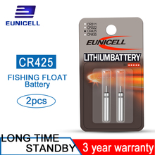 New 2pcs/set CR425 Fishing Float Batteries for Electronic Tackle Accessories Battery Lithium Pin Cells LED