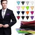 36 цвет мода шик мужские формальные костюмы обычная твердые атлас карманный площадь платок свадьба ну вечеринку господа мужчины ханки
