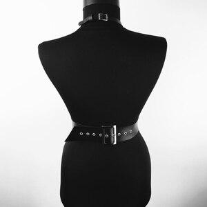 Image 4 - CKMORLS עור בירית חגורת פאנק בציר ביריות גוף סקסי ארוטי הלבשה תחתונה נשים Jartelles קלע Ghotic Bdsm Bondage לרתום