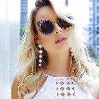 Winla Fashion Cat Eye Sunglasses Women Classic Brand Designer Vintage Coating Sunglasses Female Lentes De Sol