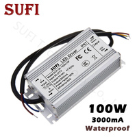 AC85 277V to DC18 34V Power Supply 100W LED Driver Waterproof LED Transformers 3000mA For High Power Floodlight Spotlight Bulb