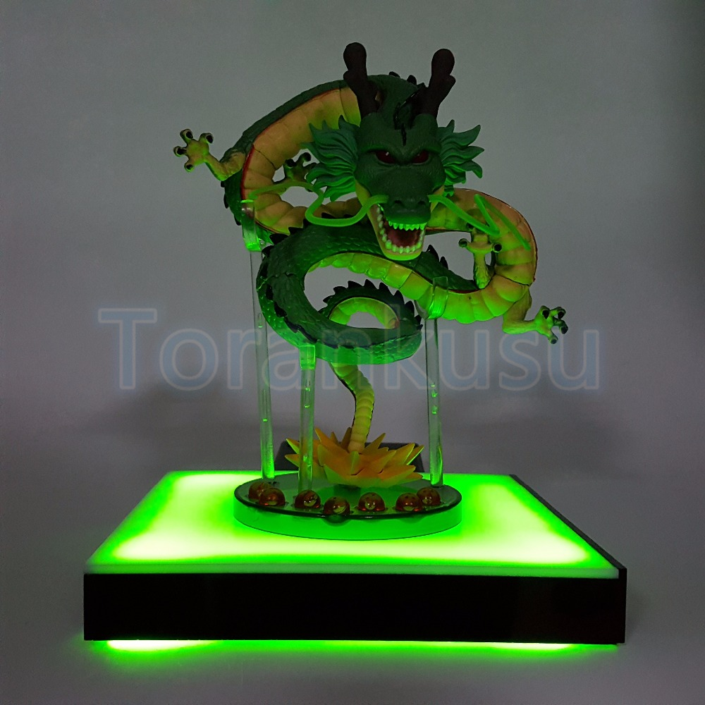 Dragon Ball Z Action Figure Shenron LED Effect Base DIY Display Toy Anime Dragon Ball Super Saiyan Collectible Model Doll DIY161