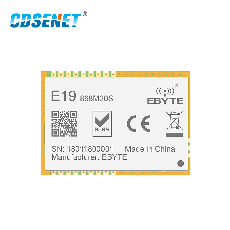 Image 2 - LoRa 868 MHz SX1276 SX1278 Transceiver Wireless rf Module 100mW CDSENET E19 868M20S Long Range SMD 868MHz Transmitter Receiver-in Fixed Wireless Terminals from Cellphones & Telecommunications