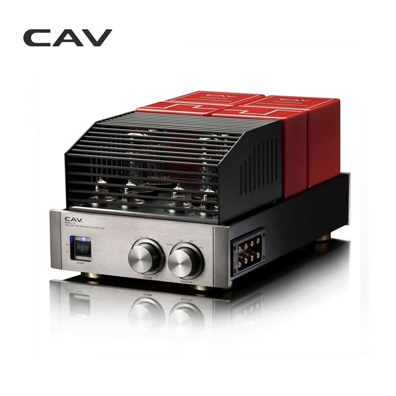 Cav t-6 Hi-Fi трубки Усилители домашние высокое качество производстве трубки Усилители домашние аудио высокой точностью 2.0 канала двойной Мощность прозрачный