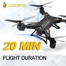 lagopus Camera Drone 20 Min Flight Duration Foldable 1080P Wide Angle WIFI FPV Drone with camera HD Quadcopter Mini Drone hot sale runcam 2 runcam2 hd 1080p 120 degree wide angle wifi fpv camera for fpv multicopter racer drone quadcopter accs