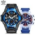 Спортивные часы SMAEL для мужчин и женщин  2 шт./компл.  модные цифровые кварцевые часы для пар  водонепроницаемые повседневные наручные часы дл...