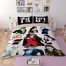 Duvet Cover 3D One Piece Luffy Zoro Nami Sanji Bedding Sets King Queen full Twin Size 3PCS black PillowCase housse de couette
